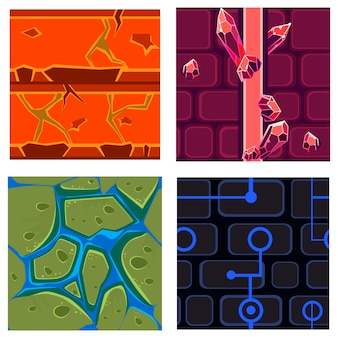 Textures for platformers set games