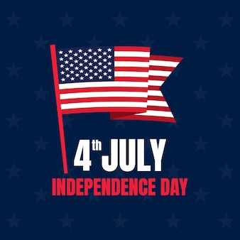 Th of july banner american independence day celebration vector background with an american flag