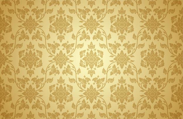 Thai art and asian style luxury seamless pattern