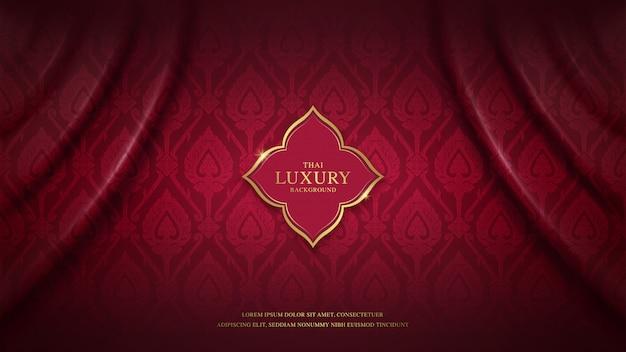Thai art luxury background pattern for decoration