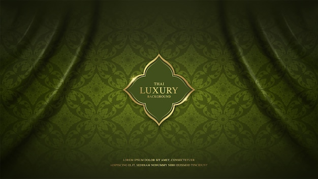 Thai art luxury banner template