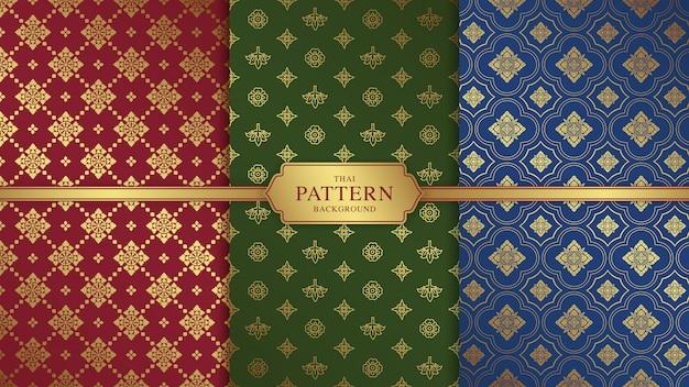 태국 아트 럭셔리 사원 및 배경 패턴