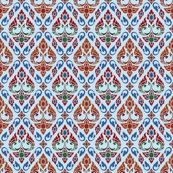 Thai art seamless pattern.