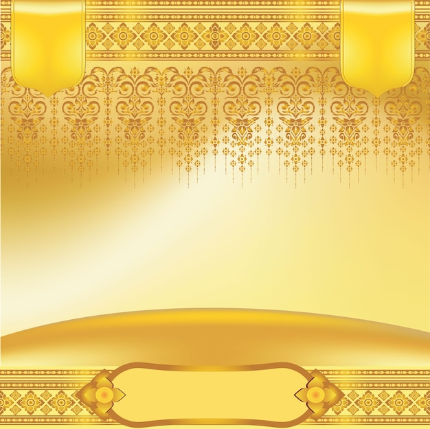 Тайский искусство, храм, украшение фона для листовок, плакат, веб, баннер
