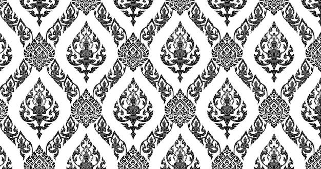 Thai background black white