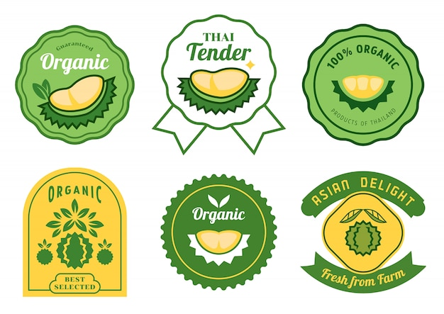 Thai durian stickers