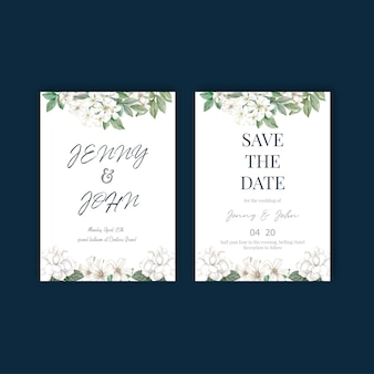 Thai flowers wedding card design