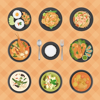 Thai foods collection