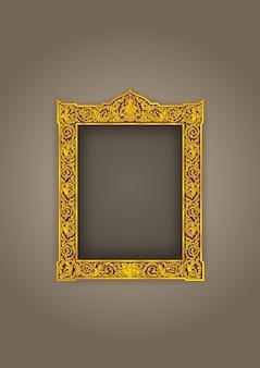 Thai frame vintage buddha