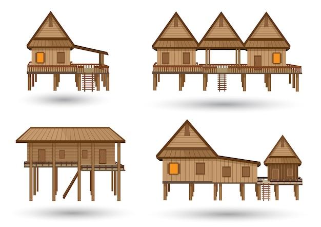 Тайская модель дома, сделанная из вектора