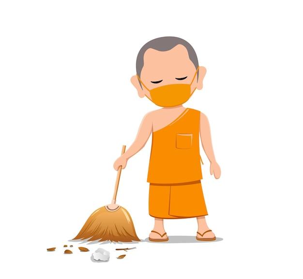 タイの僧侶はフェイスマスクウイルス保護を置きました