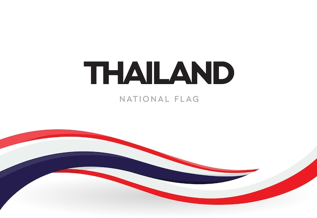 Thai national waving flag