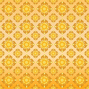 Thai oriental golden seamless pattern