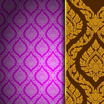 Thai pattern background vintage