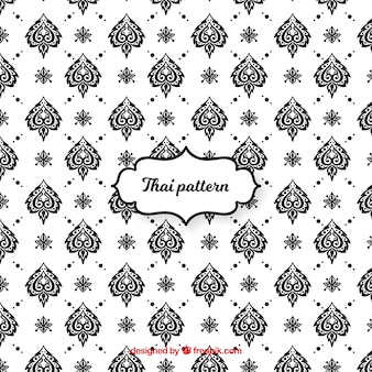 Thai pattern in black and white