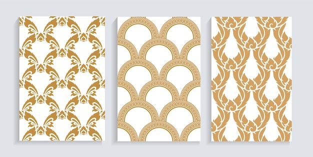 Thai pattern collection.