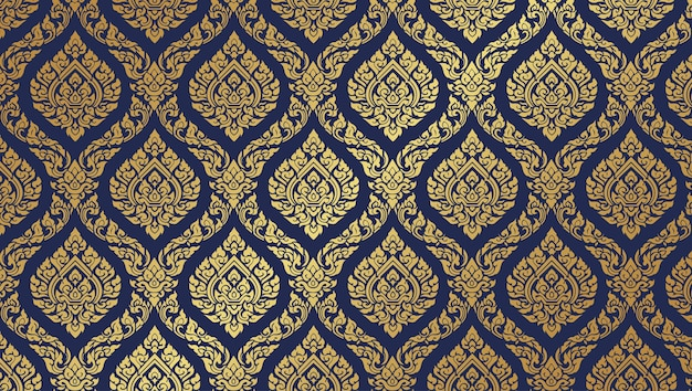 Thai pattern dark blue background
