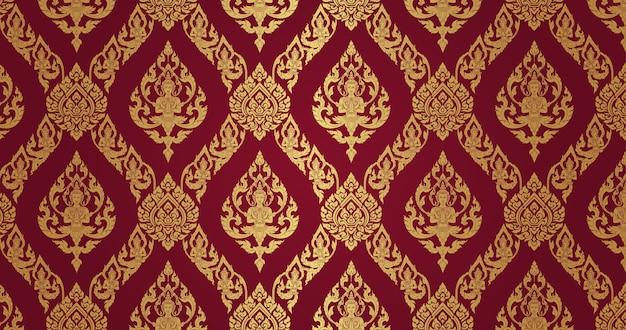 Thai pattern dark red background