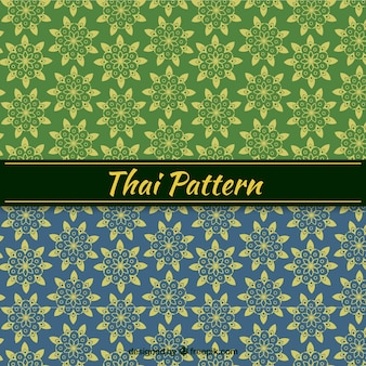 Тайский узор в плоском стиле