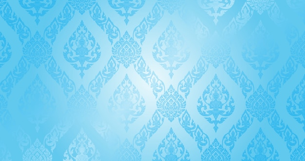 Thai pattern light blue background