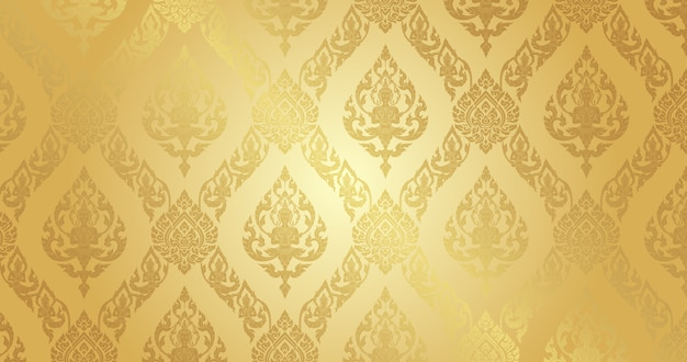 Thai pattern pure gold background