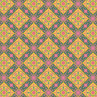 Thai pattern supreme background premium . full of colors. used to decorate the walls of churches and temples in traditional thai traditions.