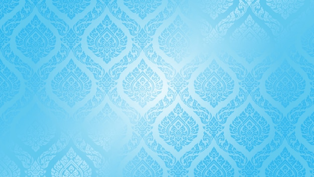 Thai pattern supreme blue background