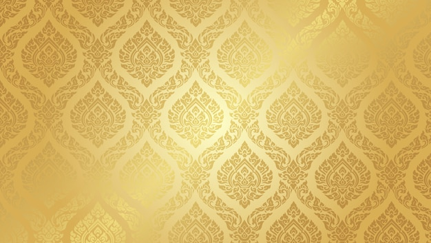Thai pattern supreme gold background