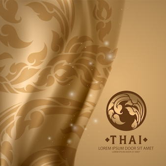 Thai pattern traditional concept the arts of thailand