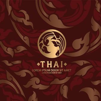 Тайский узор традиционная концепция искусство таиланда