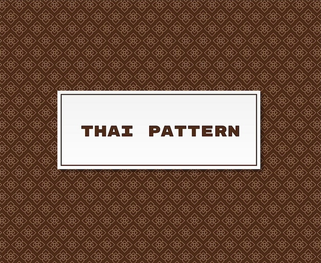 Thai pattern traditional illustration