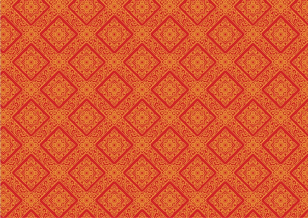 Thai pattern vintage vector illustrator