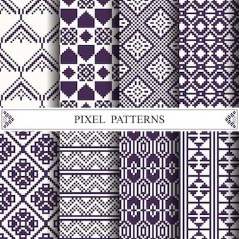 직물 섬유를 만들기위한 태국 픽셀 패턴
