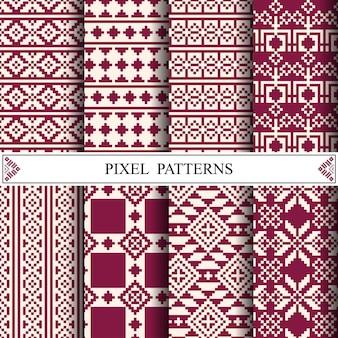 Тайский пиксельный рисунок для изготовления текстиля из ткани