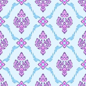 Thai tradition art seamless pattern wallpaper.