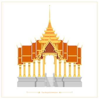 Thai traditional architecture used for royal palaces and temples