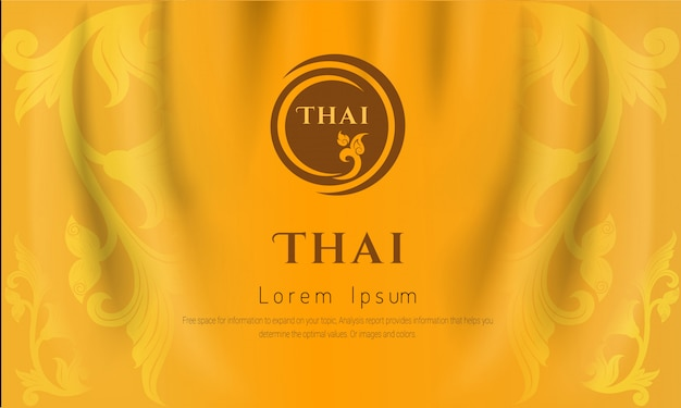 Thai traditional background, the arts of thailand concept, yellow color,.