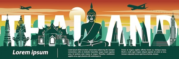 Thailand famous landmark