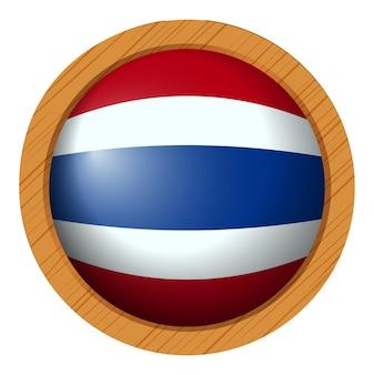 라운드 배지에 태국 국기