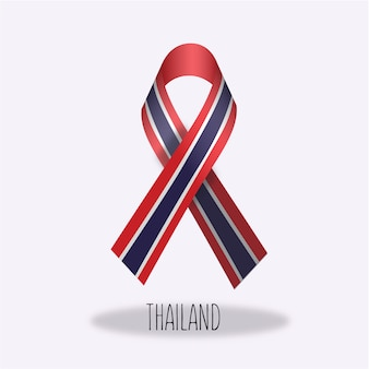 Thailand flag ribbon design