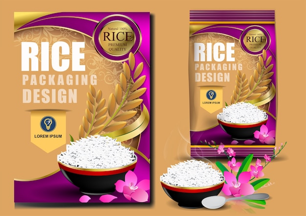 Thailand food logo products and fabric background