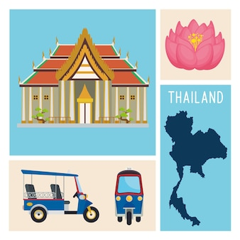 Thailand four icons
