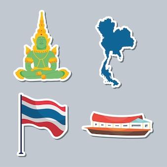 태국 아이코 닉 기호 세트 디자인