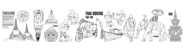 Thailand travel landmarks.