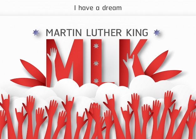 Happy Martin Luther King Day With Sunburst Background Vector Free