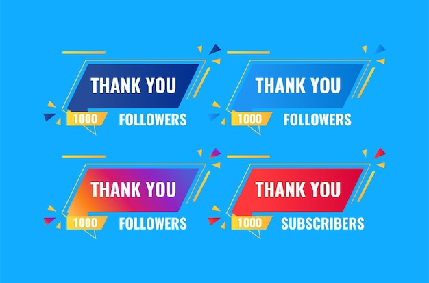 Thank you 1000 followers and subscriber banner design
