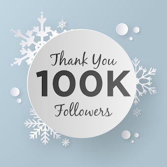 Thank you 100k followers, paper art style.