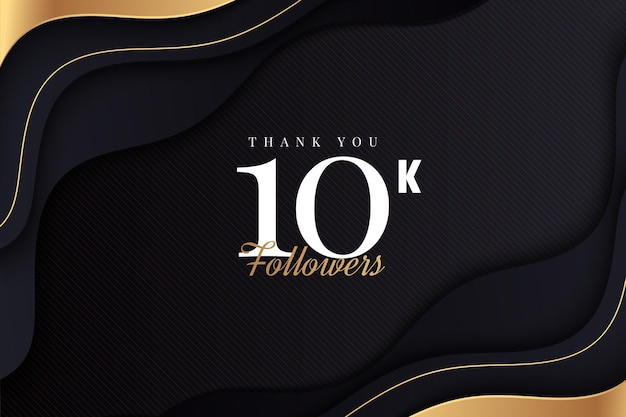 골든 웨이브로 10,000 명의 팔로워에게 감사합니다