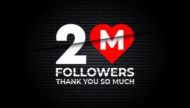 Thank you 2 million followers   template.