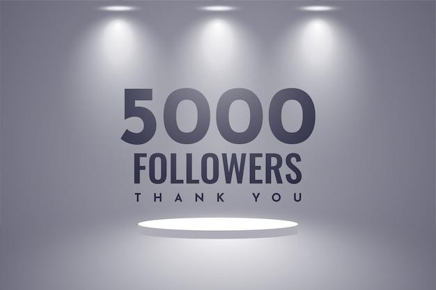 Thank you 5000 followers illustration template design